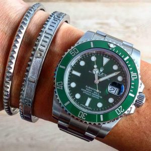 7d line bracelets and Rolex Submariner